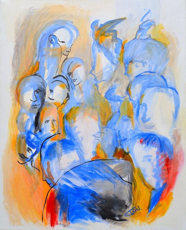 La Foule - acrylique-81x100cm