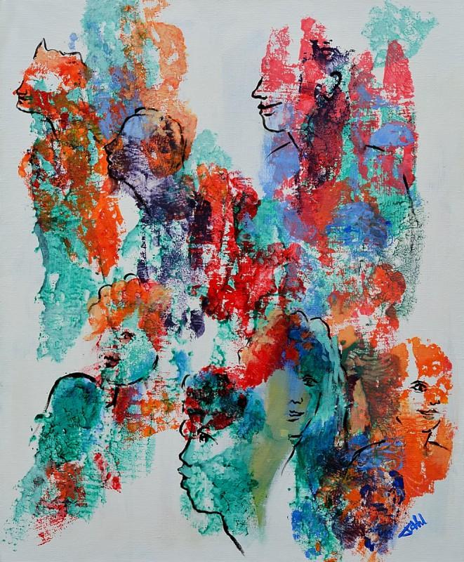 People II-Acrylique sur toile-60x73cm