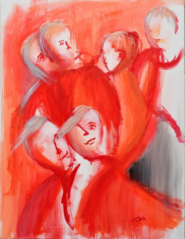 The dear friends-Acrylique sur toile-89x116cm