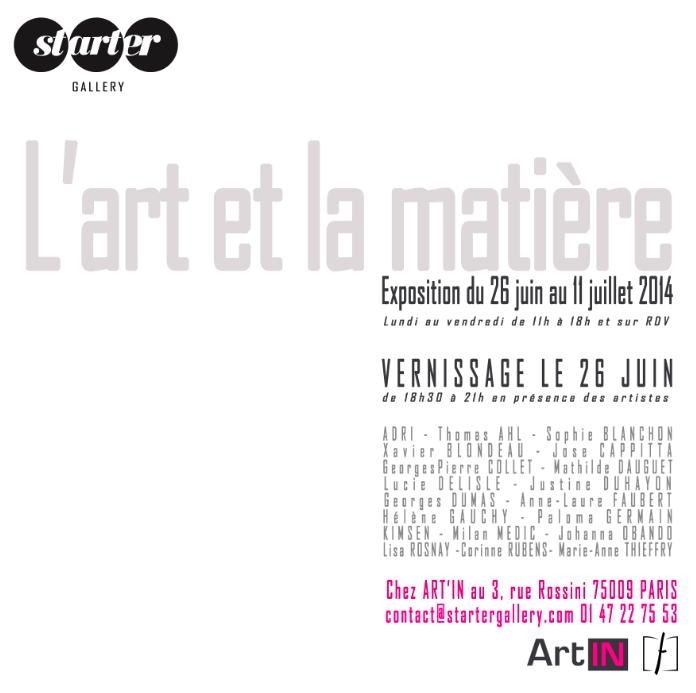 Carton d'invitation l'art et la matière
