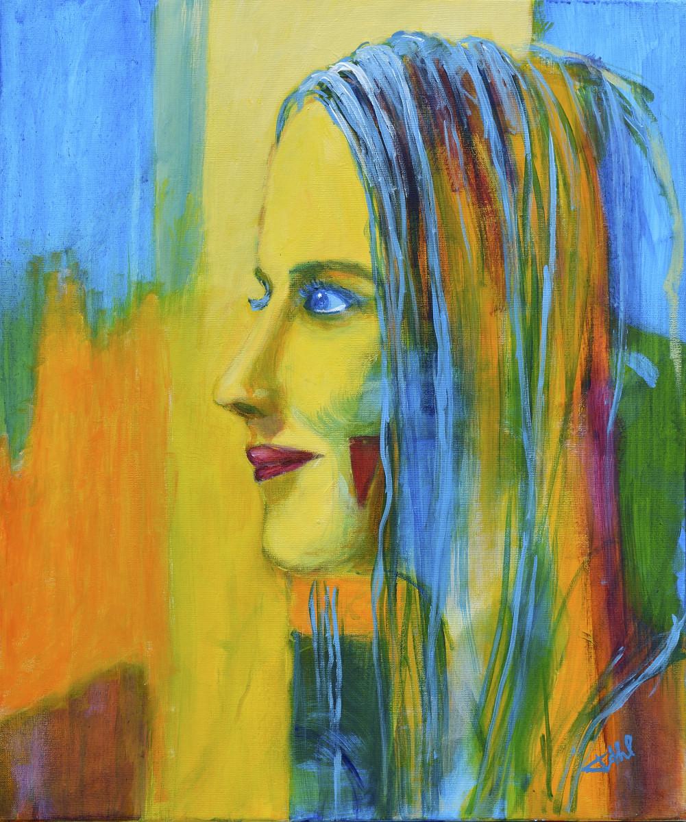 Inconnue 1, Size 46 x 55 cm, Acrylics on canvas
