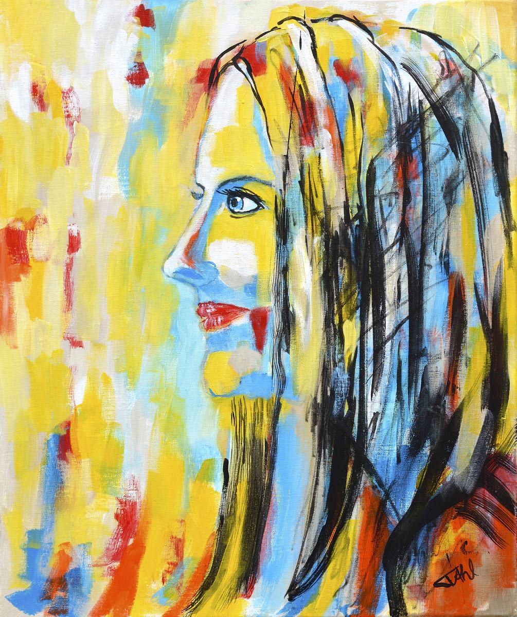 Inconnue 3, Size 46 x 55 cm, Acrylics on canvas