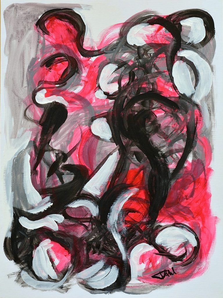 Abstract VI, Size 30 x 40 cm, Acrylics on paper