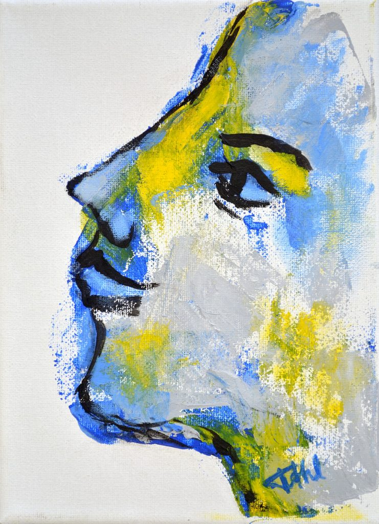 Expression 1, Size 16 x 22 cm, Acrylics on canvas