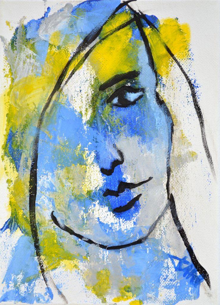 Expression 2, Taille 16 x 22 cm, Acrylique sur toile