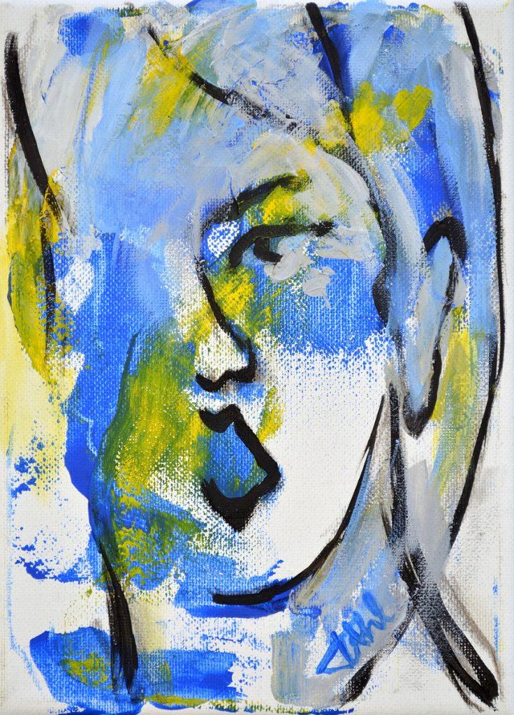 Expression 3, Taille 16 x 22 cm, Acrylique sur toile