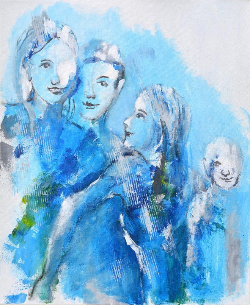 Les gagnants, Taille 60 x 73 cm, Acrylique sur toile