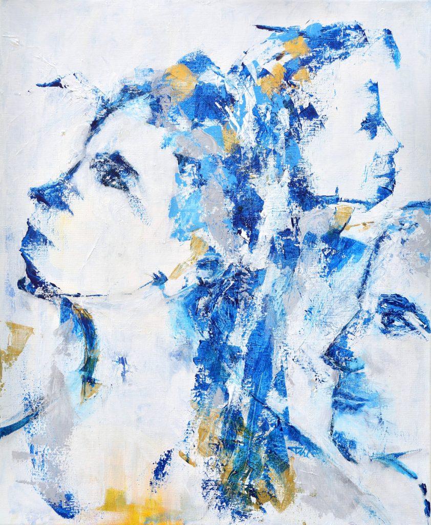 Nouveaux horizons, Taille 60 x 73 cm, Acrylique sur toile