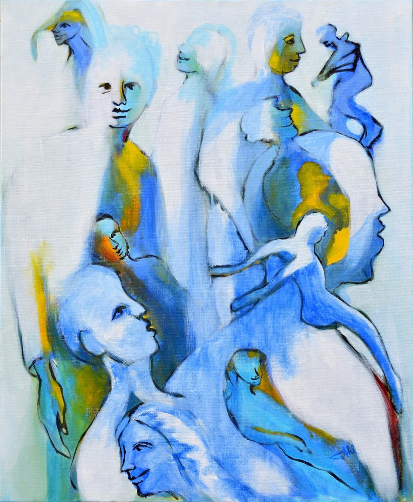 People IV, Size 60 x 73 cm, Acrylics on canvas