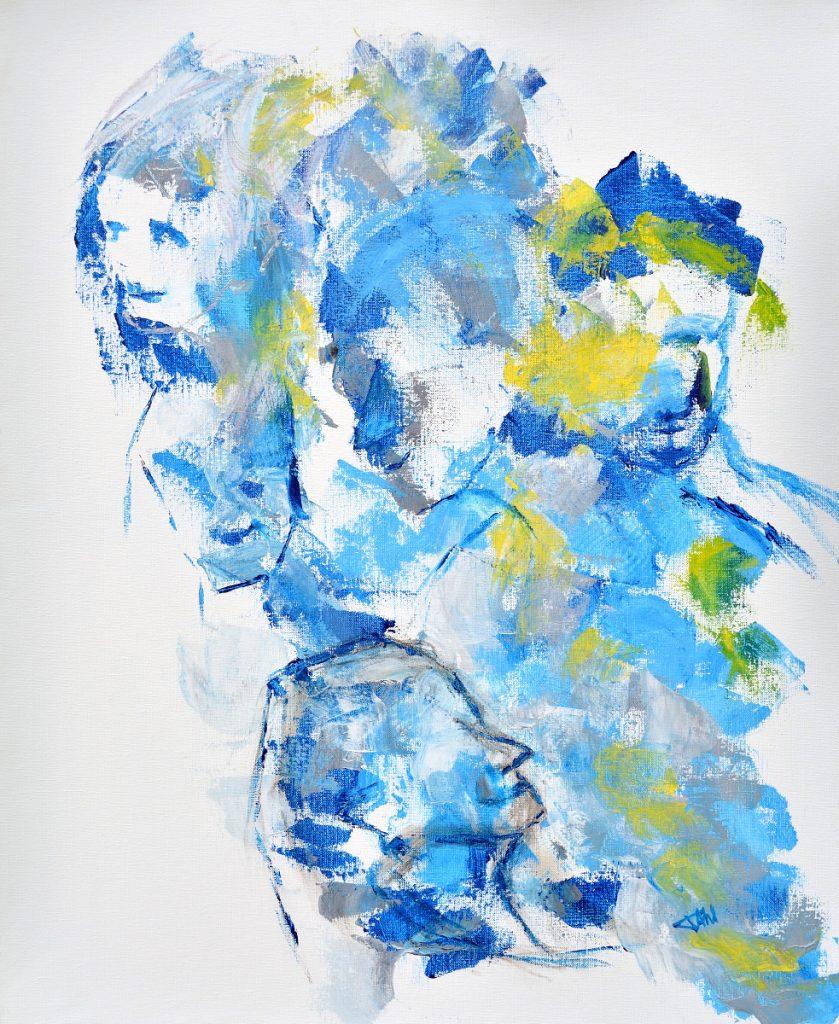 People VI, Taille 60 x 73 cm, Acrylique sur toile