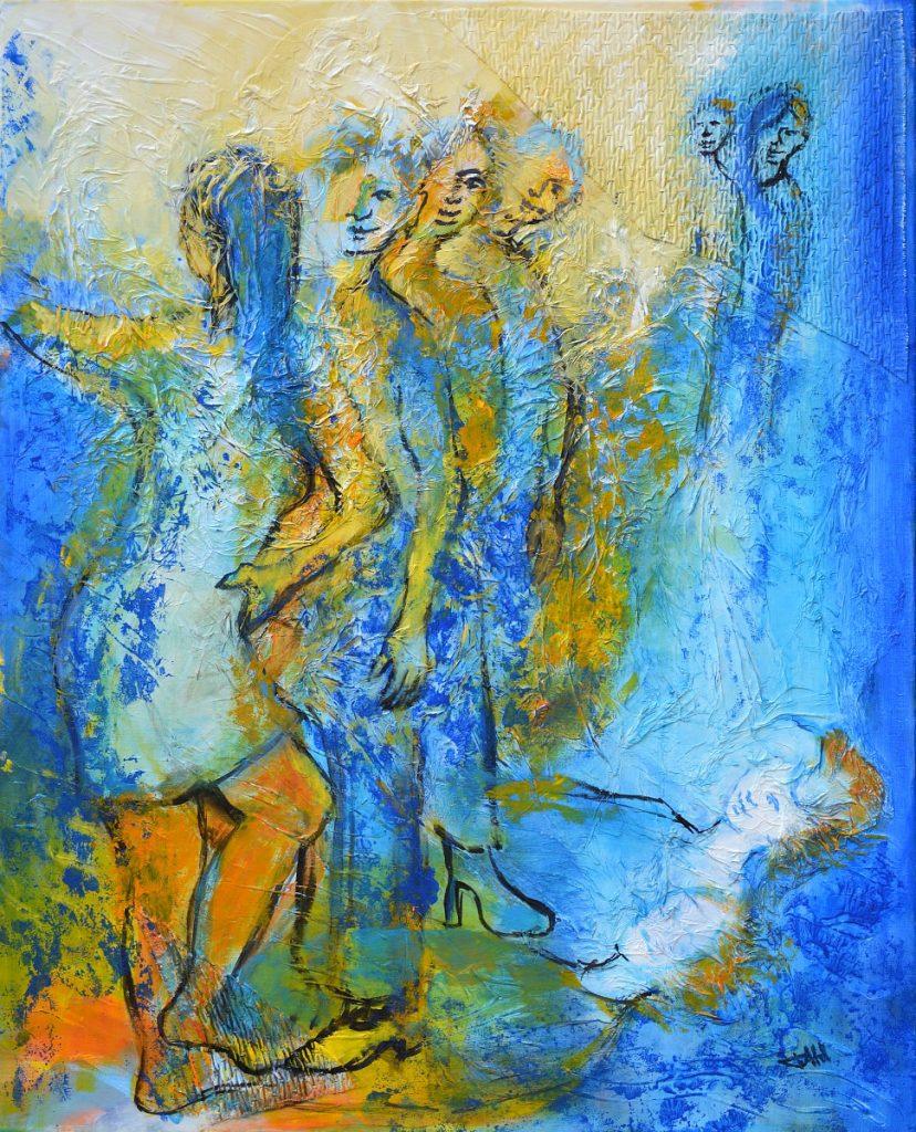 La curiosité, Taille 81 x 100 cm, Acrylique sur toile