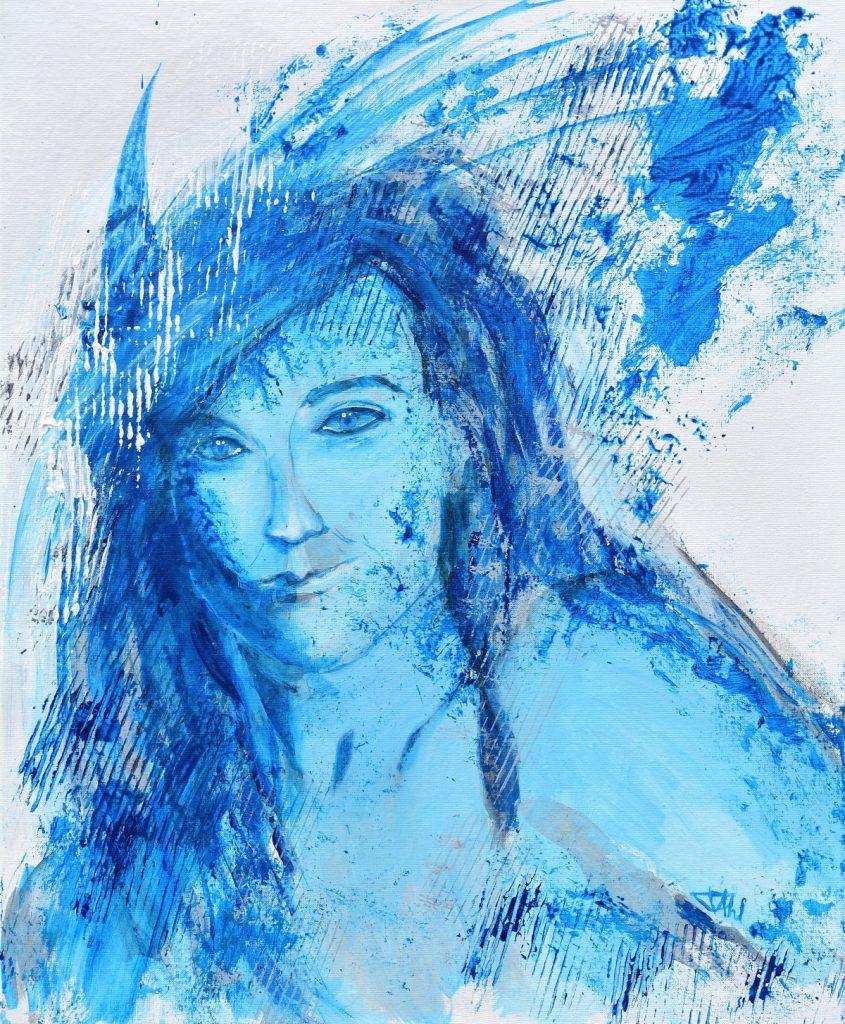 Amazone, Taille 60 x 73 cm, Acrylique sur toile
