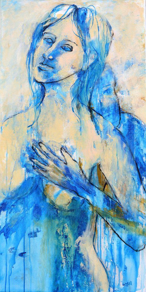 Espoir, Taille 50 x 100 cm, Acrylique sur toile