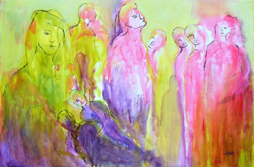 One Life, Taille 120 x 80 cm, Acrylique sur toile