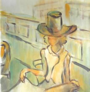Femme au journal